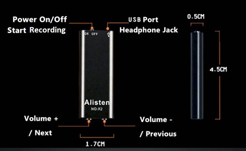 καταγραφικό ήχου alisten x2